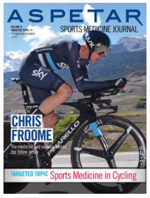 Chris Froome cycling picture on ASPETAR Sports Medicine Journal cover page