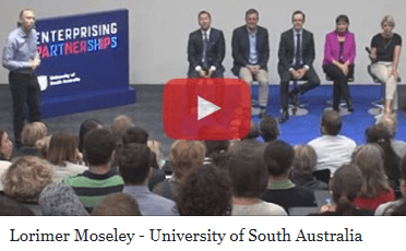 Lorimer Moseley lecturing at University of South Australia